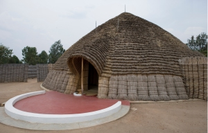 the traditional palace where the rwandan king and his court used to live, has been rebuilt and serves as a museum.